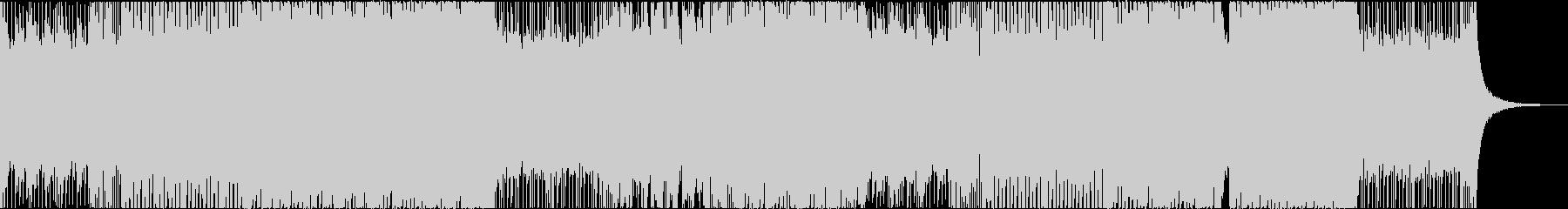 アッパーなリフによるデジタルロックの未再生の波形