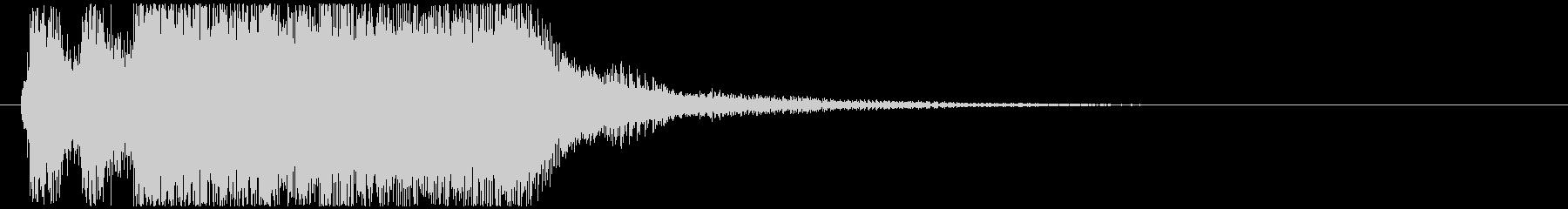 3秒・定番のオーケストラ・ファンファーレの未再生の波形