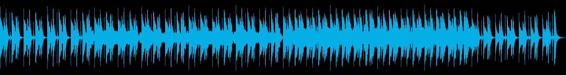 勇敢なマリンバとトランペットの明るい曲の再生済みの波形