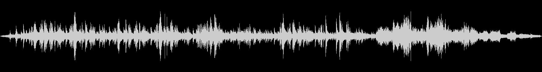 トロイメライと波音の幻想的ミックスの未再生の波形