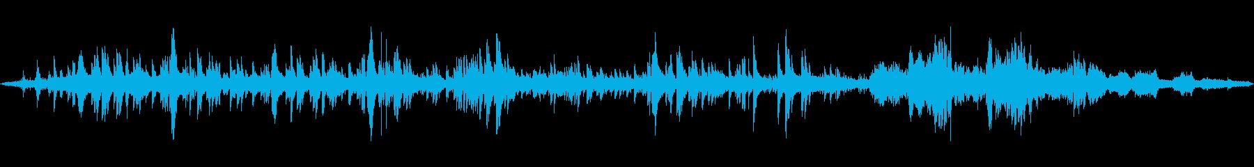 トロイメライと波音の幻想的ミックスの再生済みの波形