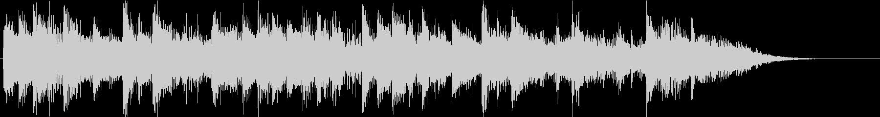 ピアノと弦の円舞曲風アイキャッチの未再生の波形