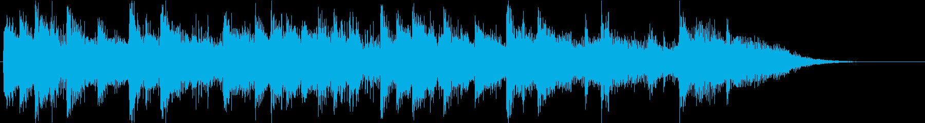 ピアノと弦の円舞曲風アイキャッチの再生済みの波形