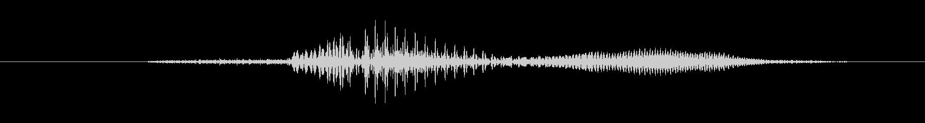 鳴き声 男性ティーンうーん混乱01の未再生の波形