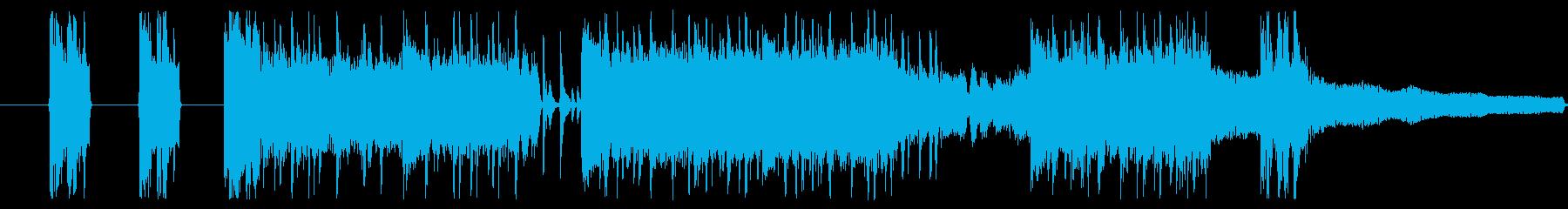 ギターが特徴のミクスチャーサウンドの再生済みの波形