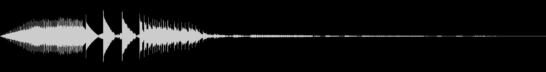ブロック移動(8bit風)の未再生の波形
