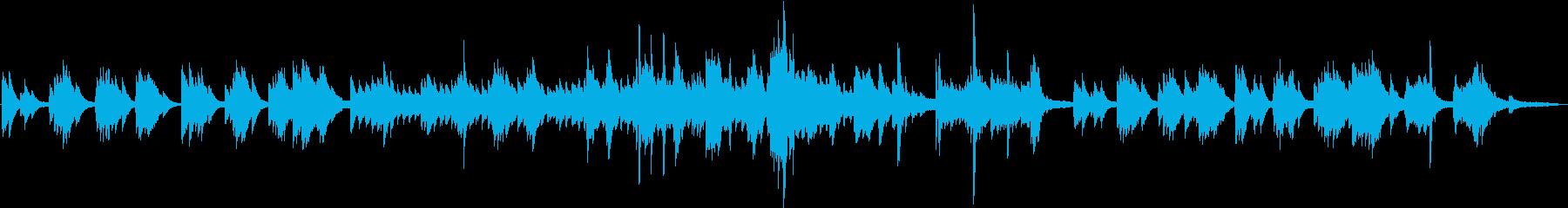 穏やかな癒しのピアノの再生済みの波形