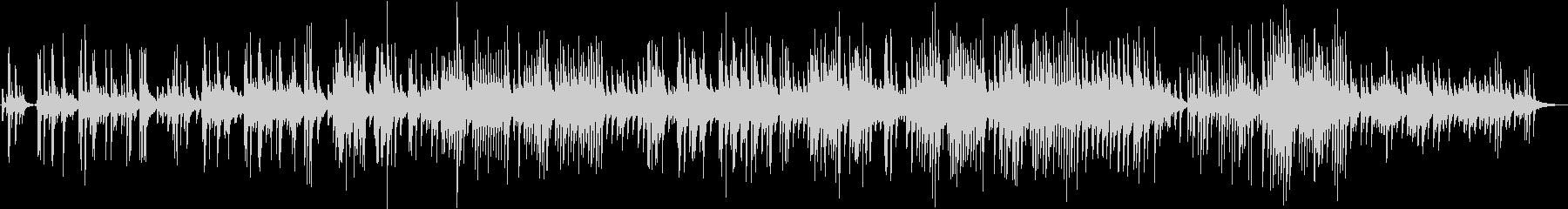 感動的なピアノのバラードの未再生の波形