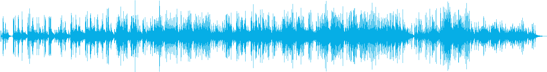 感動的なピアノのバラードの再生済みの波形