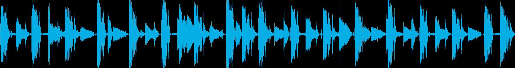 コミカルに走り回るイメージの再生済みの波形