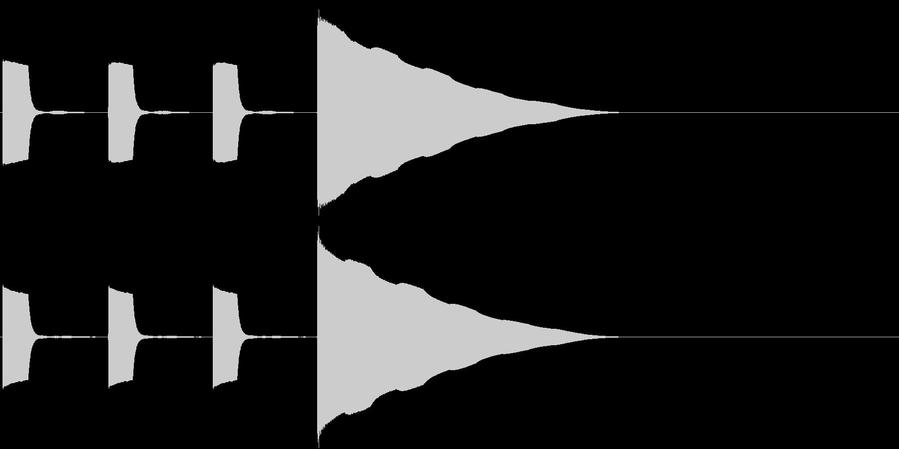 クイズやゲームの開始前カウントに使えますの未再生の波形
