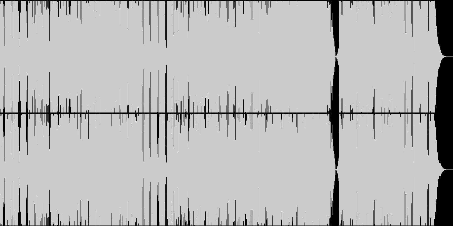 爽やかでパワフルな明るいポップスの未再生の波形