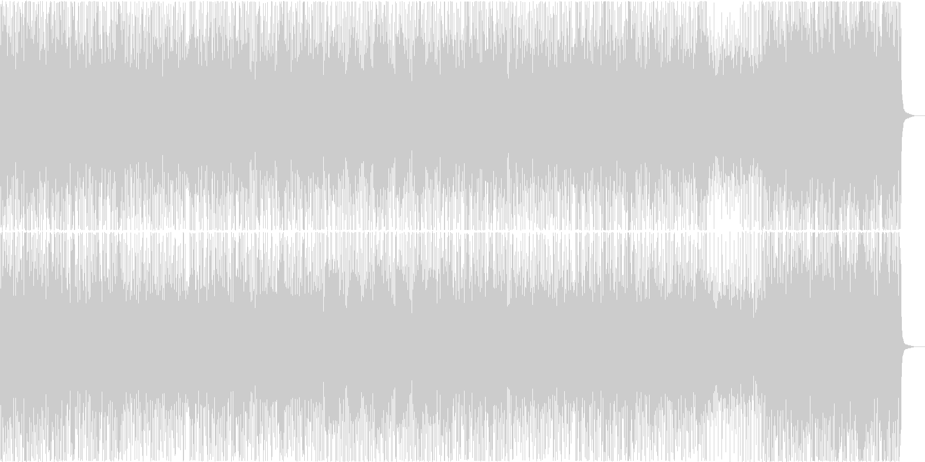 情報番組 CM オシャレで可愛いピアノの未再生の波形