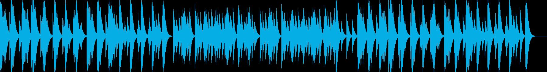 優しくてしんみりするBGM(ゆったり)の再生済みの波形