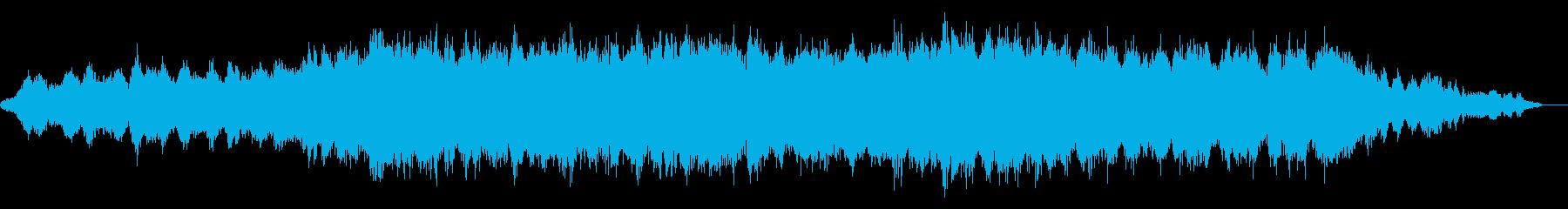 まどろむような環境音楽の再生済みの波形
