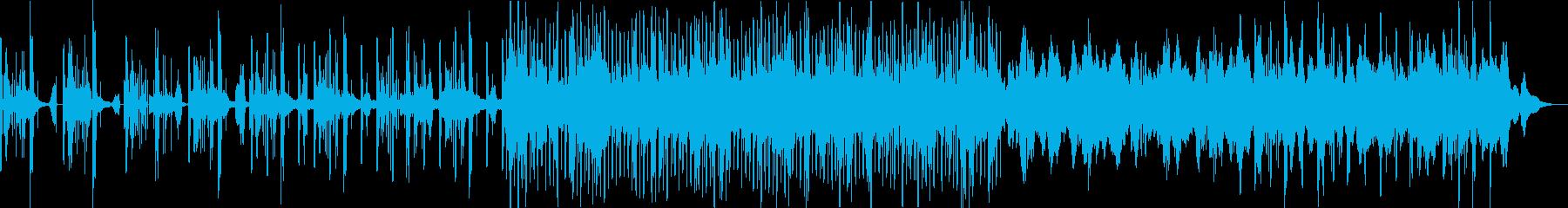 デジタル系テクスチャー音楽生命誕生シーンの再生済みの波形