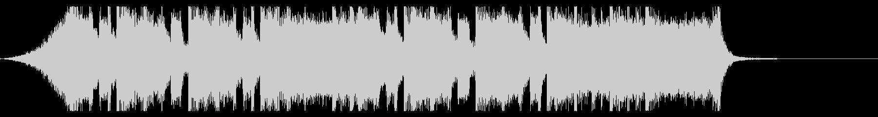 シンプルなメタル系のジングルの未再生の波形