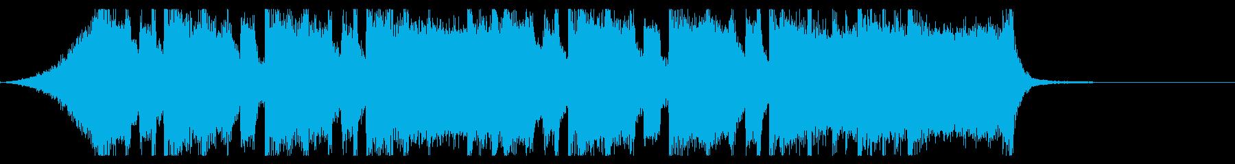 シンプルなメタル系のジングルの再生済みの波形