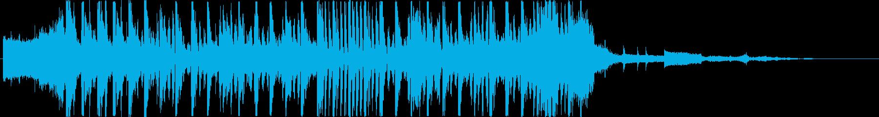 電子楽器。ペースが速く、熱狂的。多...の再生済みの波形