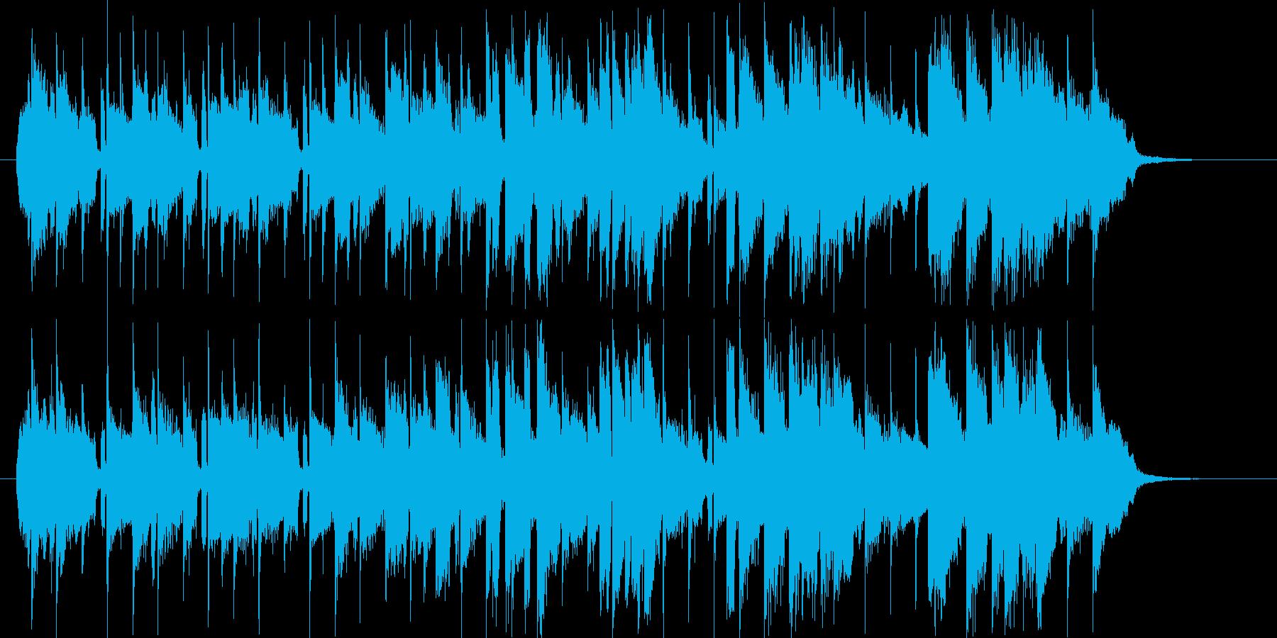 軽やかで爽やかなポップ曲の再生済みの波形