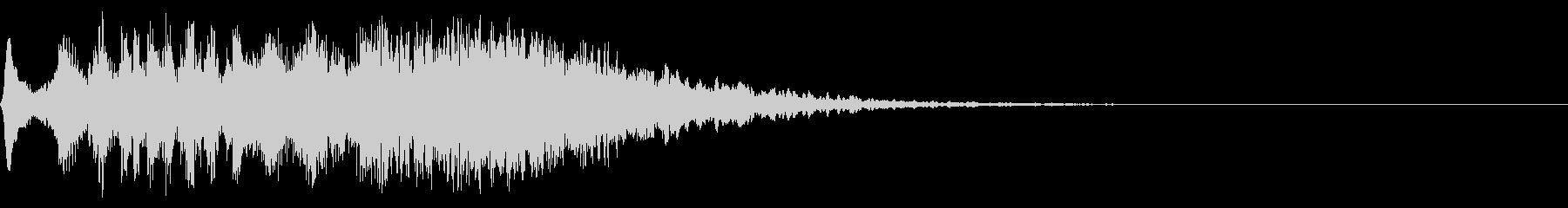 電波、光などの擬音(キランチュルルル)の未再生の波形