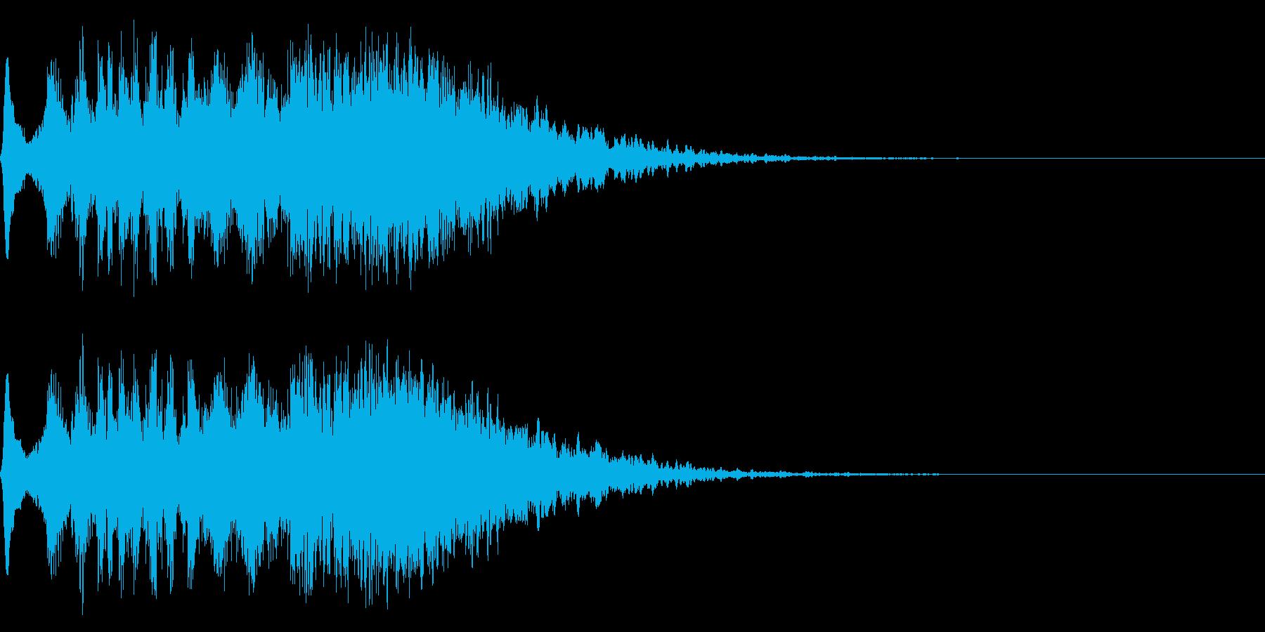 電波、光などの擬音(キランチュルルル)の再生済みの波形