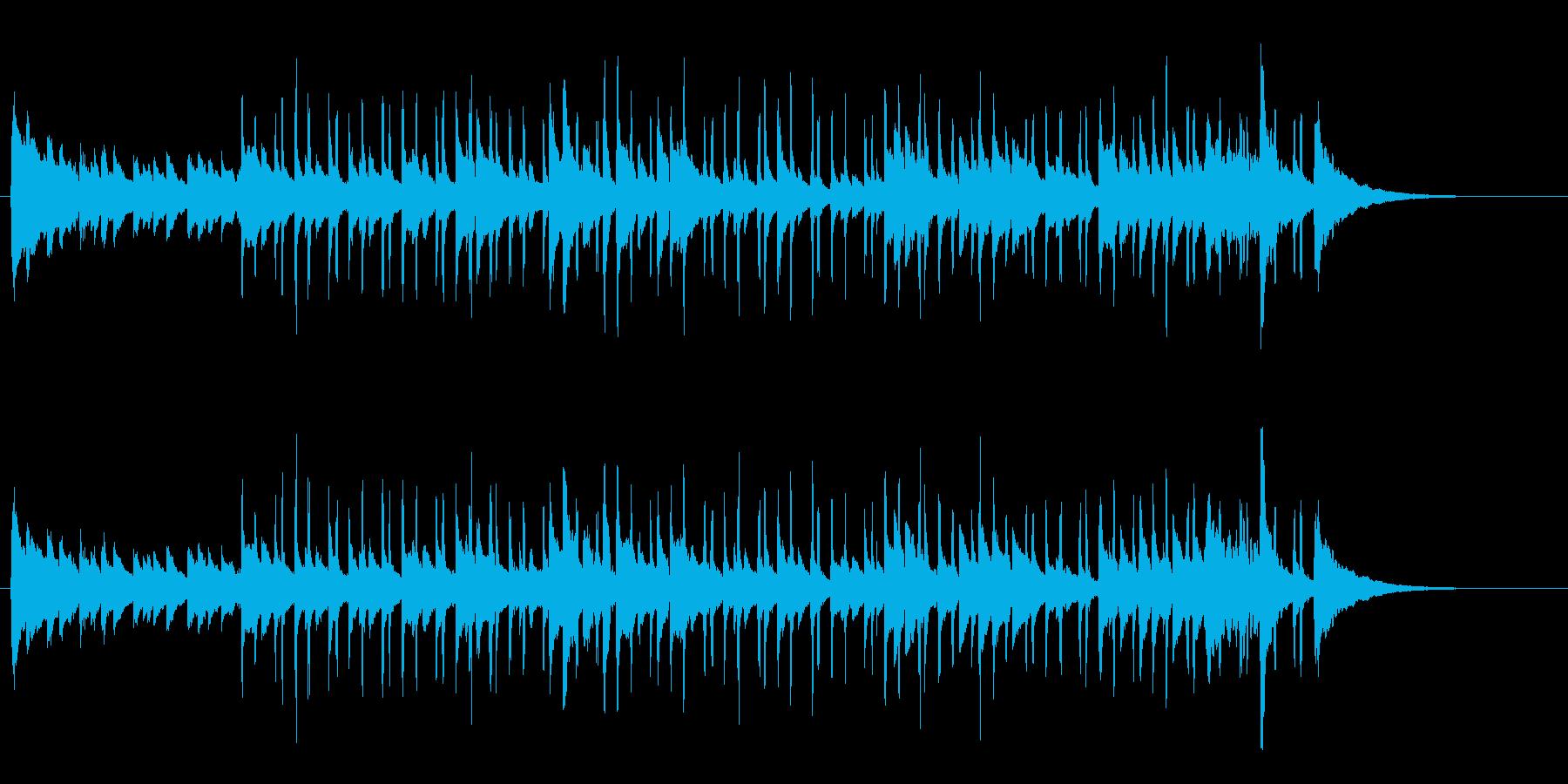 アコギとピアノの爽やかなインストの再生済みの波形