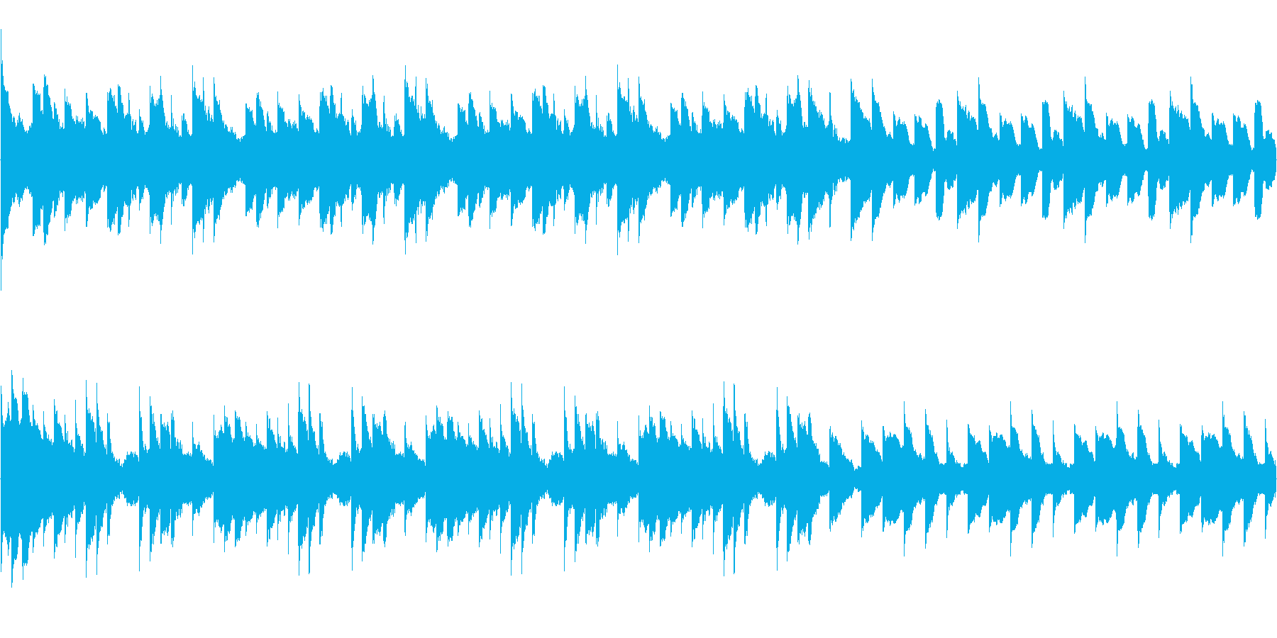 奇妙なオルゴールが響く怖いBGMループの再生済みの波形