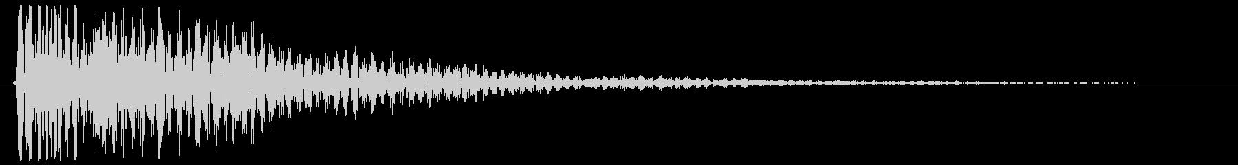 ゴ〜ン(鐘の低い音)の未再生の波形