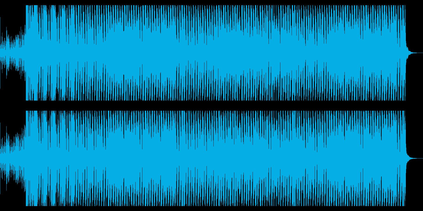 ドンキーコング風ジャングルBGMの再生済みの波形