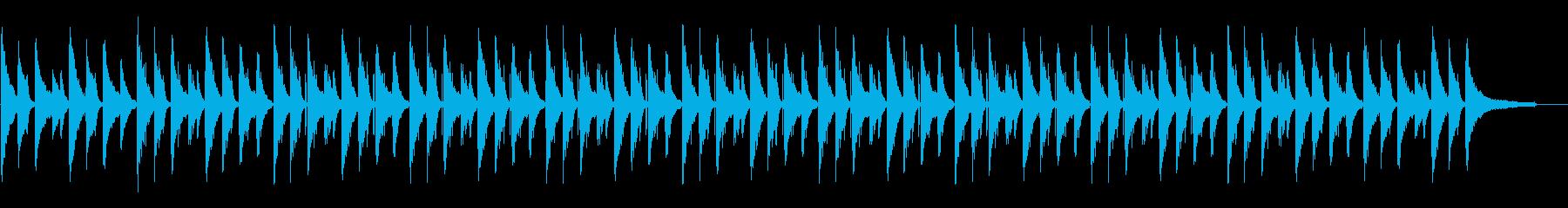 ピアノがきれいなチルホップの再生済みの波形