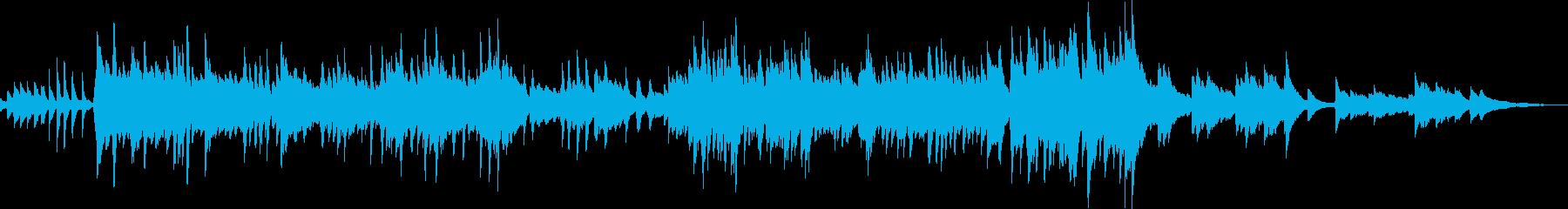 大人な雰囲気の悲劇的なピアノ曲の再生済みの波形