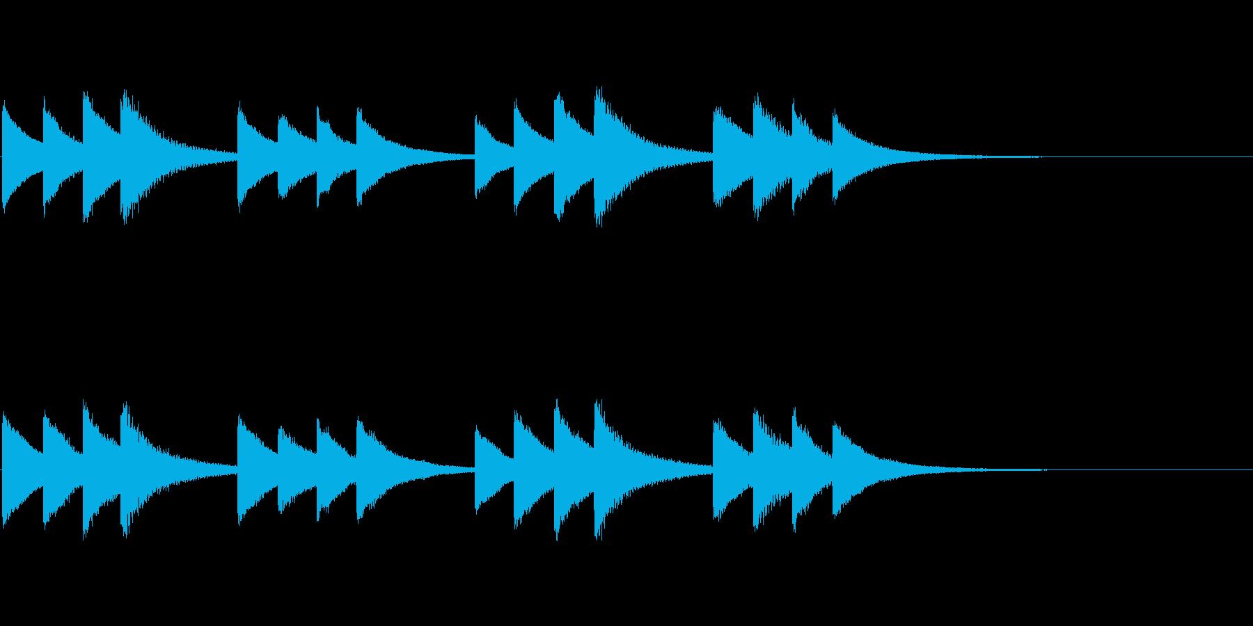 始業・終業 学校のチャイム01の再生済みの波形