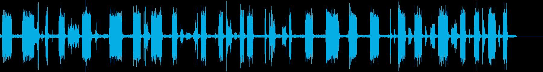 TV-スキャナーをスキャンするチャンネルの再生済みの波形