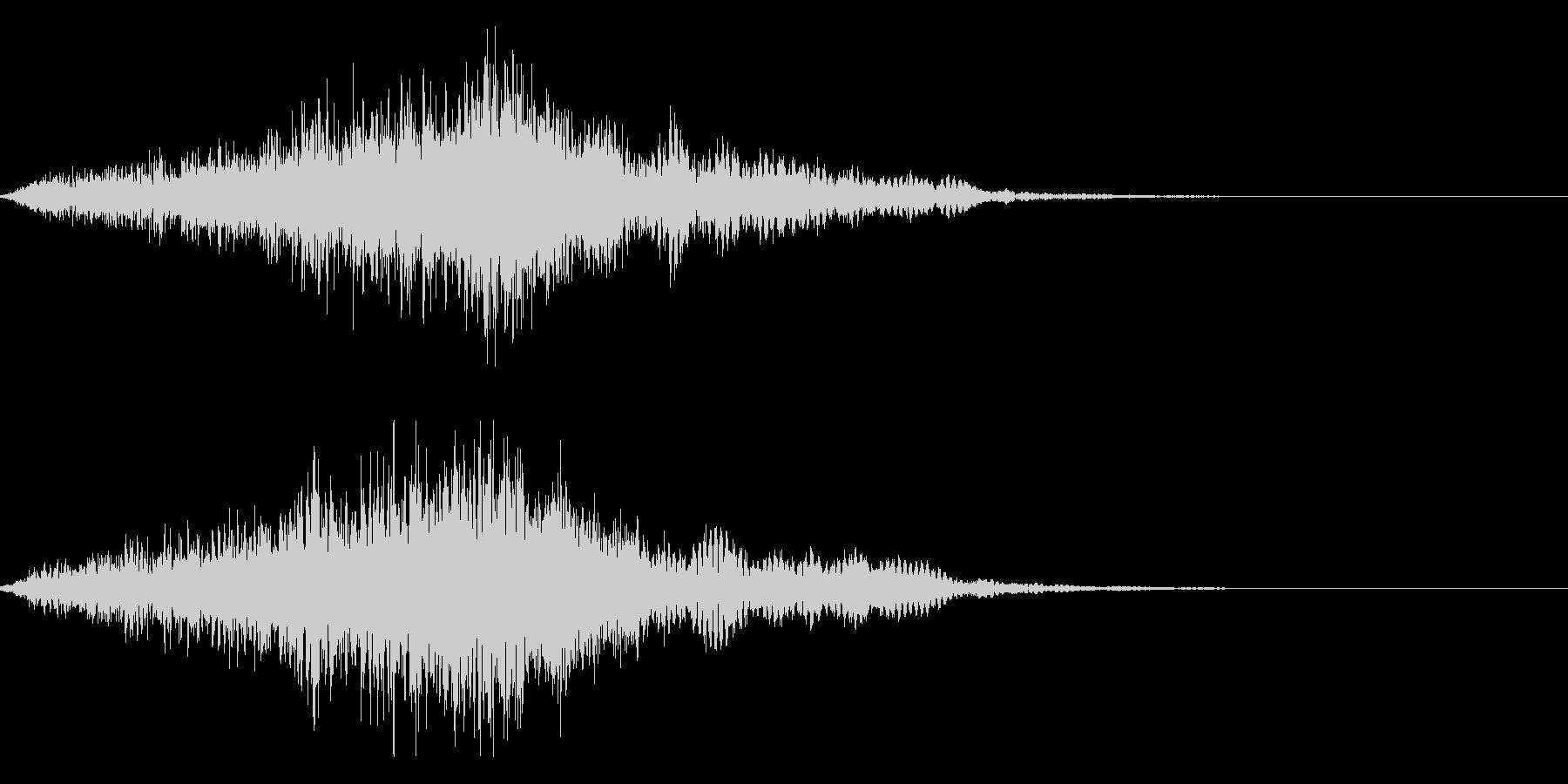 映画・映像用サウンドロゴ004の未再生の波形