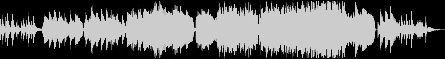 ヴァイオリンとピアノによる『仰げば尊し』の未再生の波形