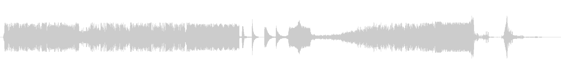 コメディアクセント7の未再生の波形