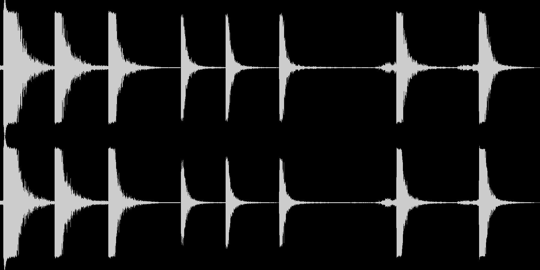 ドラムヒットの未再生の波形