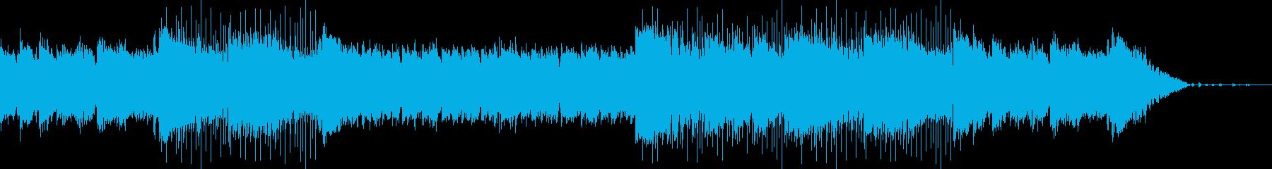 穏やかな生演奏アコギによるボサノバの再生済みの波形