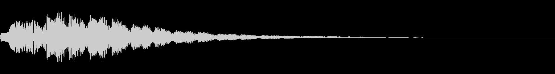 タップ→スマホアプリメニュー画面電子音の未再生の波形