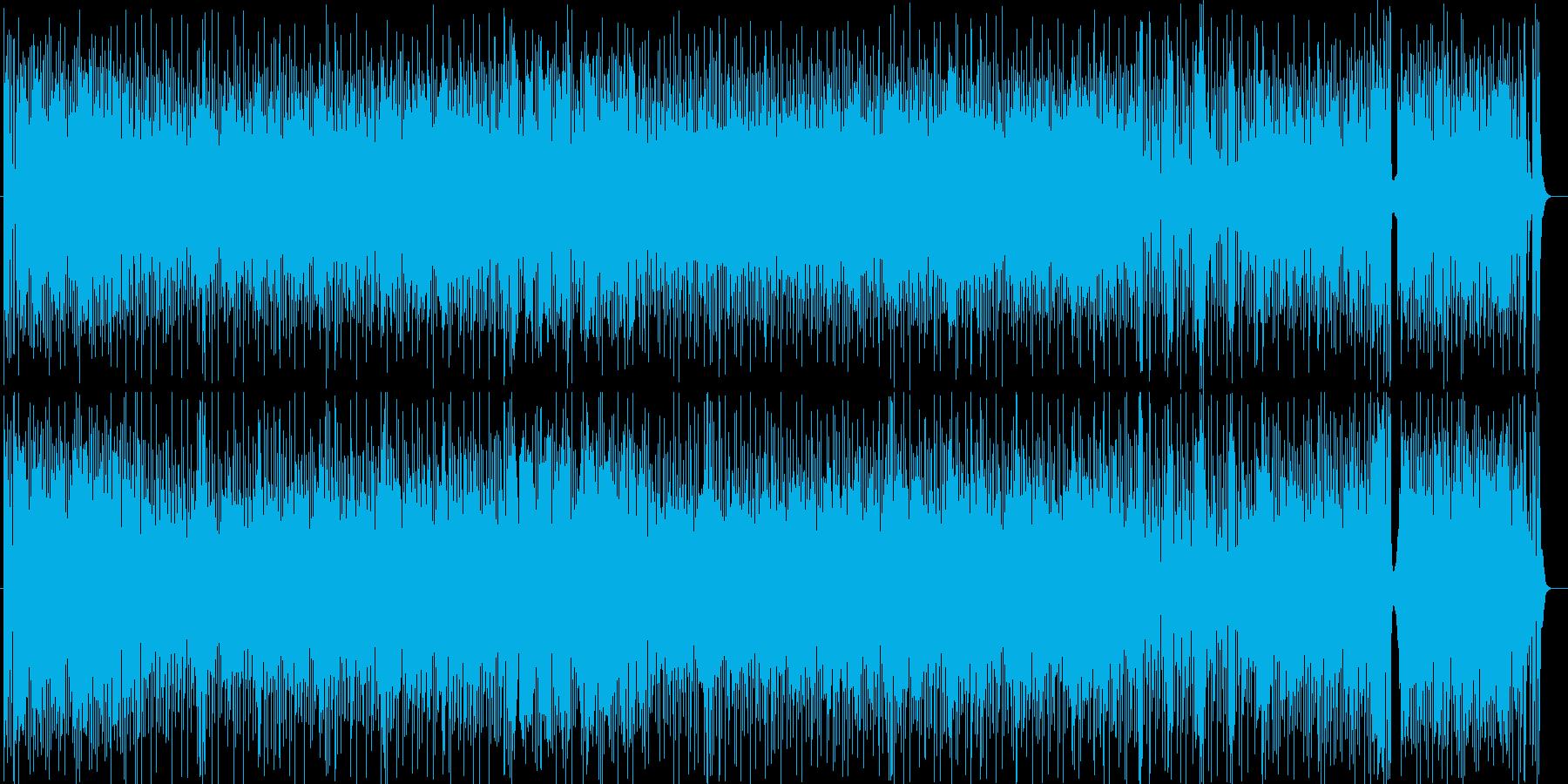 シンセによる軽快なラテンポップスの再生済みの波形
