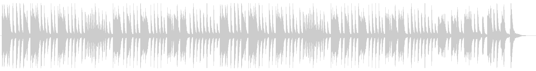 ピアノ主体のポップスBGMの未再生の波形