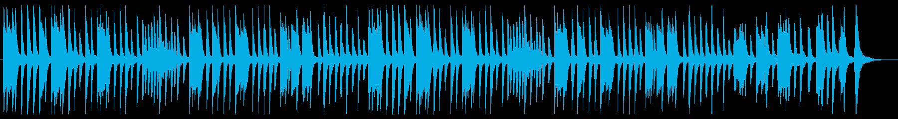 ピアノ主体のポップスBGMの再生済みの波形