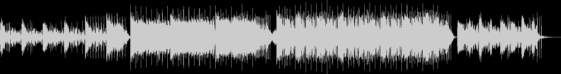 真夏の夜・幻想的なトロピカルハウスBGMの未再生の波形
