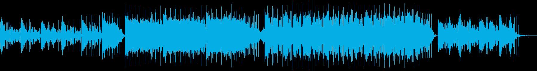 真夏の夜・幻想的なトロピカルハウスBGMの再生済みの波形