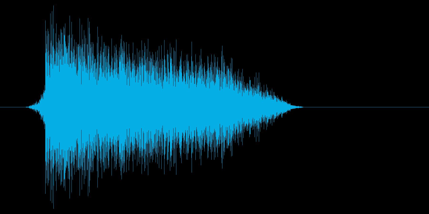 ゲーム(ファミコン風)爆発音_028の再生済みの波形