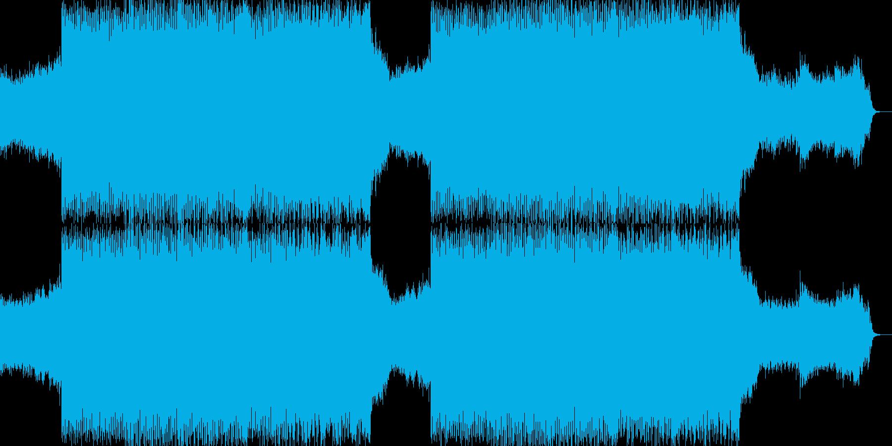 幻想的で激しいダークエレクトロダンスの再生済みの波形