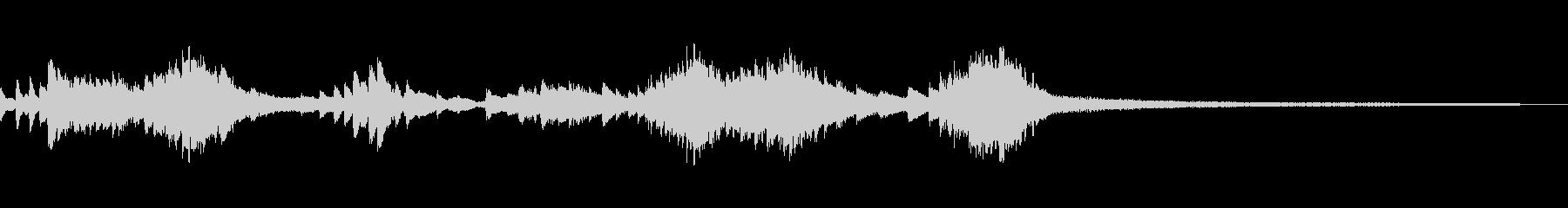 和風のジングル4b-タックピアノの未再生の波形