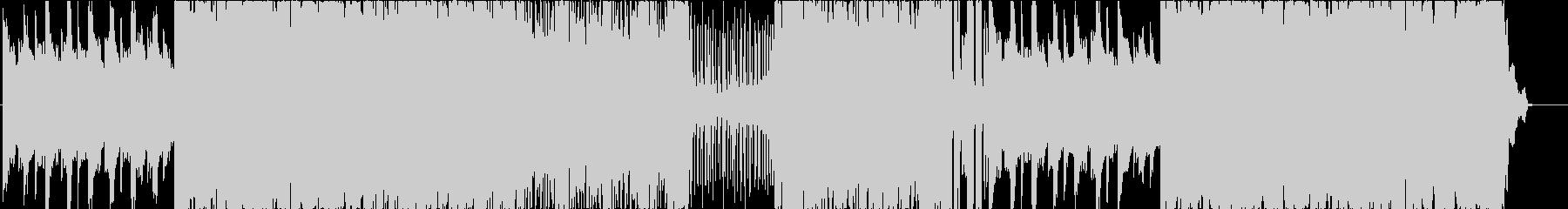 エレクトロかつロックな戦闘曲の未再生の波形