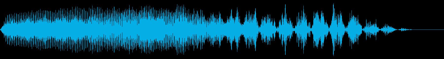 クイック振動遷移の再生済みの波形